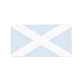 Scotland Flag Label