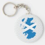 Scotland Flag Map full size Basic Round Button Keychain