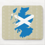 Scotland Flag Map full size Mouse Pad