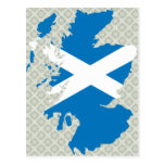 Scotland Flag Map full size Post Cards