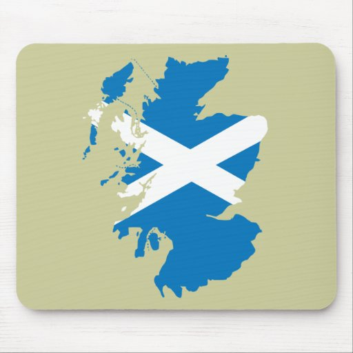 Scotland flag map mouse pad