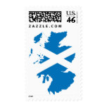Scotland flag map stamps