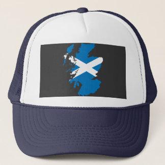 Scotland flag map trucker hat