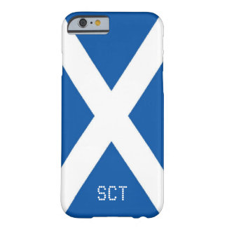 Scotland flag monogram barely there iPhone 6 case
