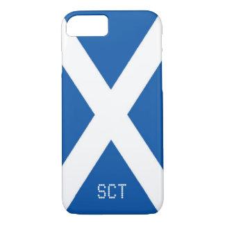 Scotland flag monogram iPhone 7 case