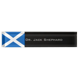 Scotland Flag Name Plate