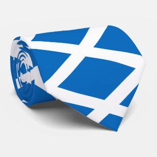 Scotland flag neck tie