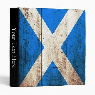 Scotland Flag on Old Wood Grain Binder