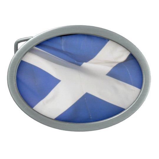 scotland flag oval belt buckle