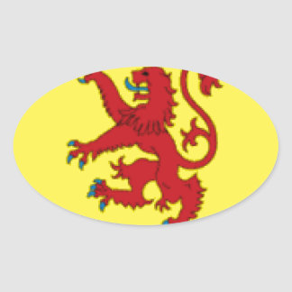 Scotland Flag Oval Sticker