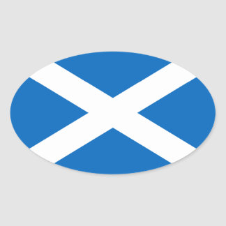 Scotland Flag Oval Sticker