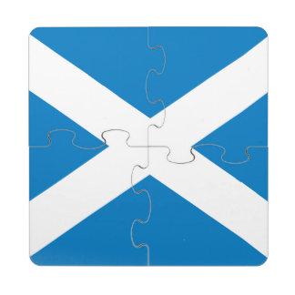 Scotland Flag Puzzle Coaster
