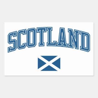 Scotland + Flag Rectangular Sticker