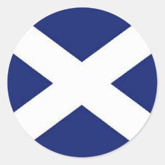 SCOTLAND FLAG ROUND STICKERS