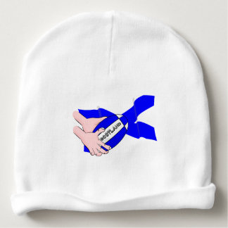 Scotland Flag Rugby Ball Supporters Cartoon Hands Baby Beanie