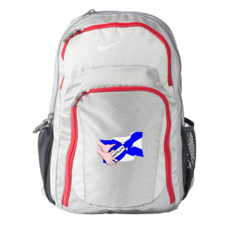 Scotland Flag Rugby Ball Supporters Cartoon Hands Backpack
