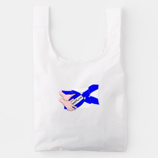 Scotland Flag Rugby Ball Supporters Cartoon Hands Reusable Bag