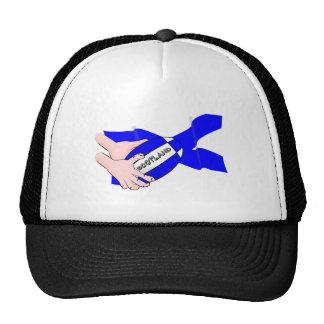 Scotland Flag Rugby Ball Supporters Cartoon Hands Trucker Hat