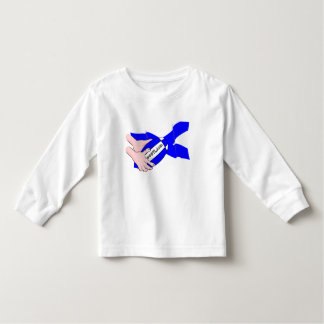 Scotland Flag Rugby Ball Supporters Cartoon Hands Tshirt