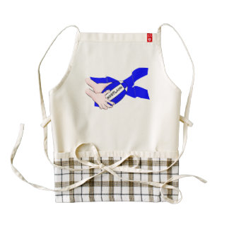 Scotland Flag Rugby Ball Supporters Cartoon Hands Zazzle HEART Apron