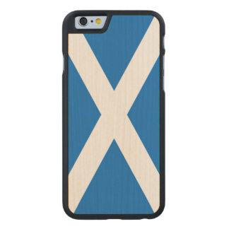 Scotland Flag - Scottish Flag Souvenir Carved® Maple iPhone 6 Case
