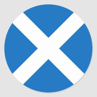 Scotland Flag - Scottish Flag Souvenir Classic Round Sticker