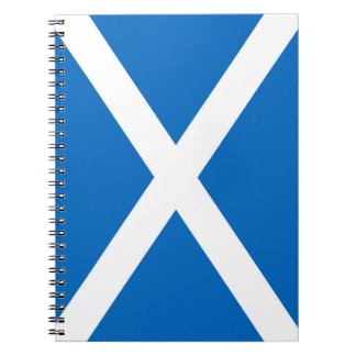Scotland flag spiral notebook