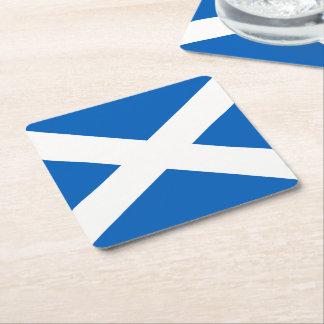 Scotland Flag Square Paper Coaster