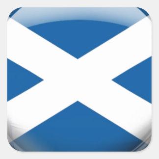 Scotland Flag Square Sticker