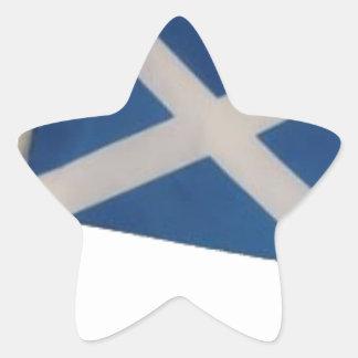 Scotland Flag Star Sticker