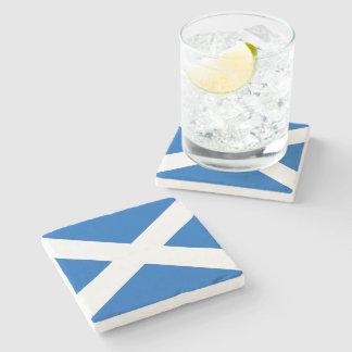 Scotland Flag Stone Beverage Coaster