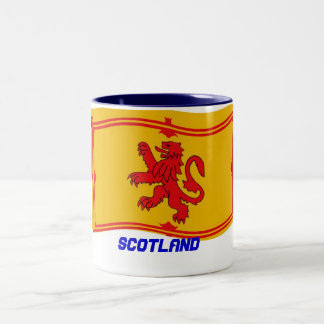Scotland flag. Two-Tone coffee mug