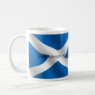 Scotland Flag White Cross From Whence We Came Coffee Mug