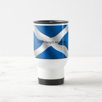Scotland Flag White Cross From Whence We Came Mug