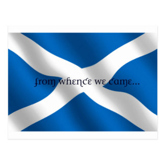 Scotland Flag White Cross From Whence We Came Post Cards