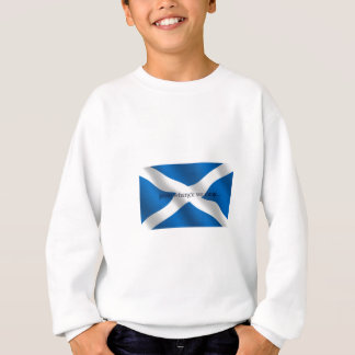 Scotland Flag White Cross From Whence We Came Sweatshirt