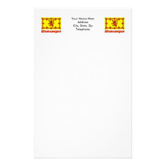 Scotland Flag with name in Russian Stationery