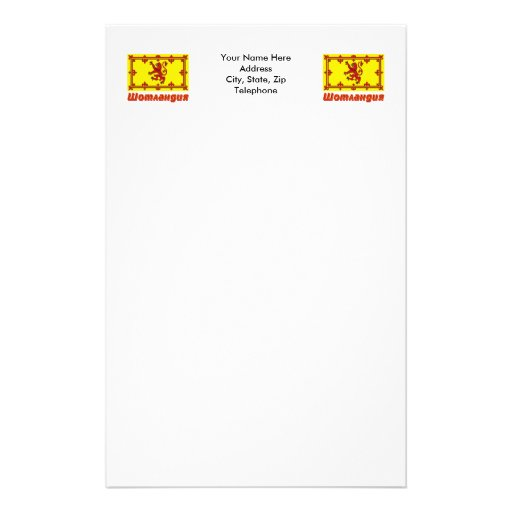 Scotland Flag with name in Russian Personalized Stationery