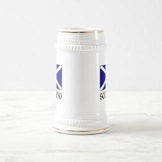 Scotland Flag & Word Beer Stein