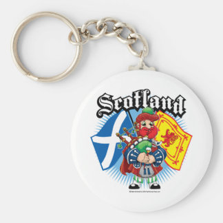 Scotland Flags and Piper Keychain