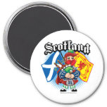 Scotland Flags and Piper Magnet