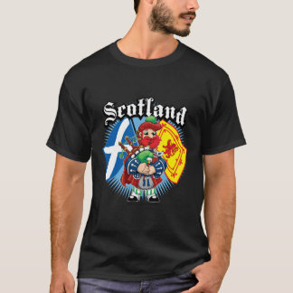 Scotland Flags and Piper T-Shirt
