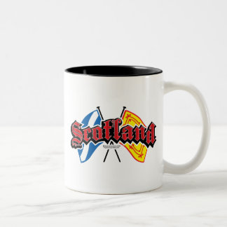 Scotland Flags Two-Tone Coffee Mug