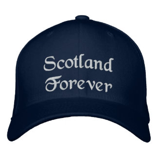 Scotland Forever hat - a quality Scottish souvenir Embroidered Hats