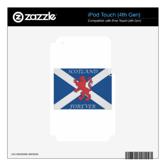 scotland_forever_lion_rampant_ decals for iPod touch 4G