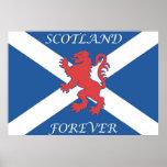 Scotland Forever Lion Rampant Flag Poster