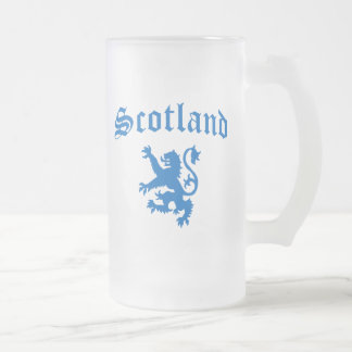 Scotland Frosted Glass Beer Mug