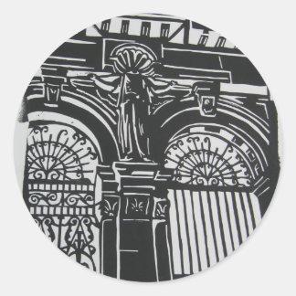 Scotland Gates Classic Round Sticker