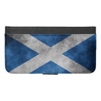 Scotland Grunge- Saint Andrew's Cross iPhone 6/6s Plus Wallet Case
