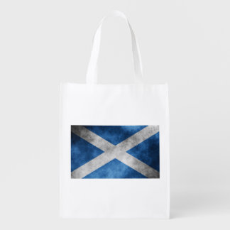 Scotland Grunge- Saint Andrew's Cross (One-Sided) Reusable Grocery Bags